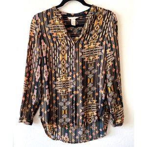 H&M 3/4 Button Front Blouse sz 4